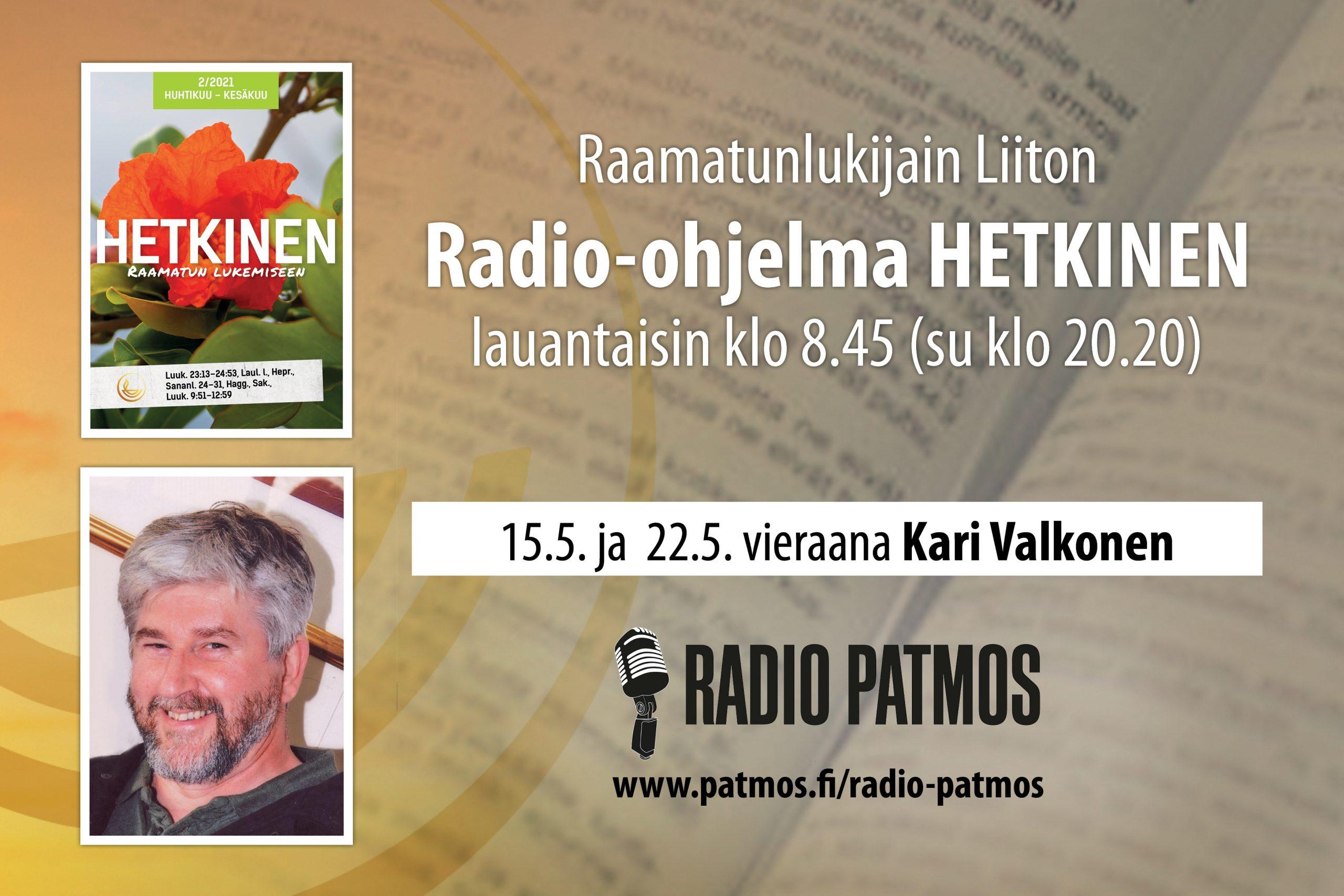 RLL:n Ohjelmasarja Radio Patmoksella Lauantaisin Klo 8.45 (su Klo 20.20)